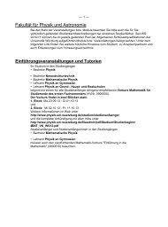 Fakultät für Physik und Astronomie - Universität Würzburg