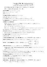 Analysis II - Formelsammlung