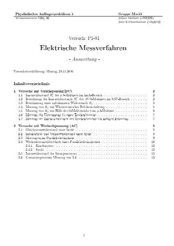 Elektrische Messverfahren