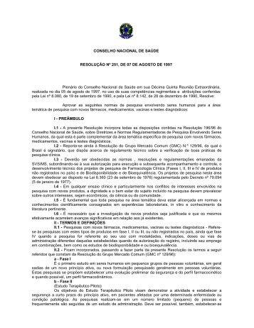 Resolução 251/97 - Uniara
