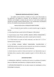 Relação FINAL de trabalhos aceitos pelo III CONCISU - Uniara