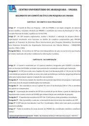 Regimento - Uniara