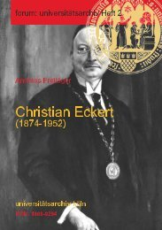 Christian Eckert (1874-1952) - Universitätsarchiv - Universität zu Köln