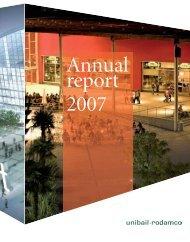 2007 Unibail-Rodamco Annual Report (5,2 Mb)