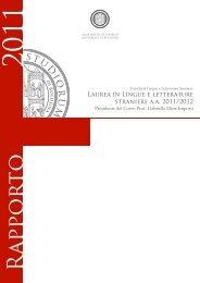 Lingue e Letterature Straniere - Università di Bologna