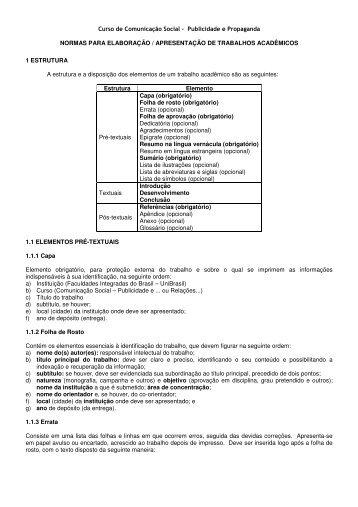 Curso de Comunicação Social - Publicidade e ... - UniBrasil