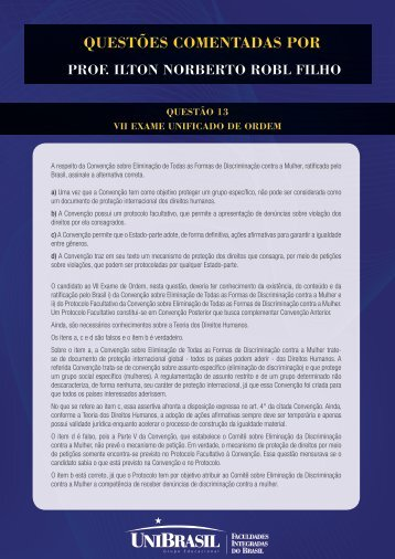 questões comentadas por - UniBrasil