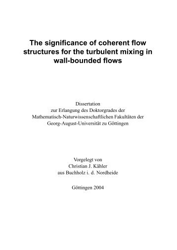 The significance of coherent flow structures for the turbulent mixing ...