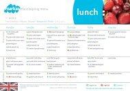 Current menu Brixen/Bressanone - Free University of Bozen · Bolzano