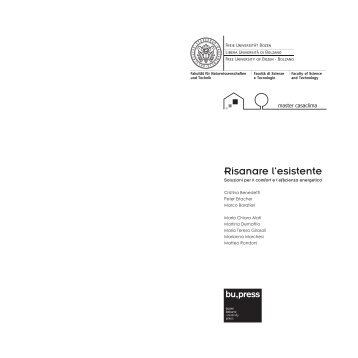 Risanare l'esistente - Libera Università di Bolzano