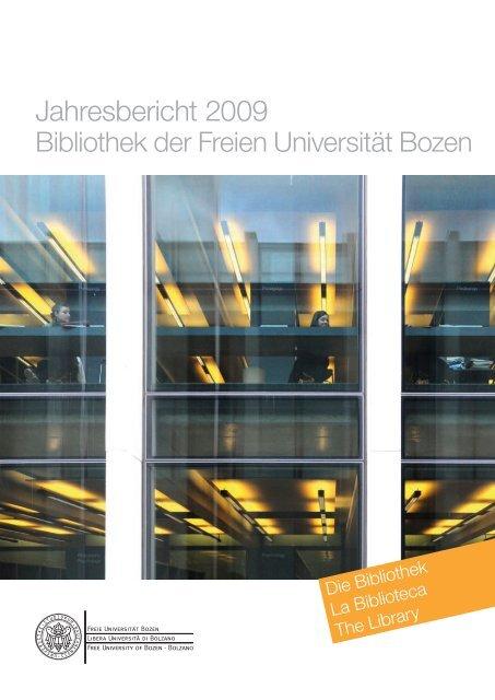 Jahresbericht 2009 - Libera Università di Bolzano