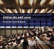 SOZIALBILANZ 2010 - Libera Università di Bolzano