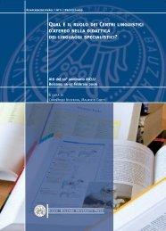 Qual è il ruolo dei Centri linguistici d'ateneo nella didattica dei ...