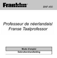 Professeur de néerlandais/ Franse Taalprofessor - Franklin ...