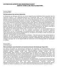 historische aspekte der mehrsprachigkeit aspetti storici del ...