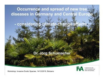 Occurrence and spread of new tree diseases in Germany and ...