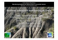 Bedload transport monitoring at Draix (Southern French Prealps)
