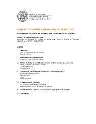 FACOLTA' DI SCIENZE E TECNOLOGIE INFORMATICHE - Libera ...