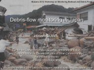 Debris-flow monitoring in Japan