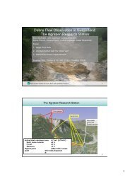 Debris-flow monitoring in Switzerland