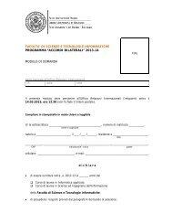 """""""accordi bilaterali"""" 2013-14 modulo di domanda"""