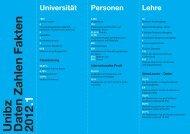 Unibz Daten Zahlen Fakten 2012 .1
