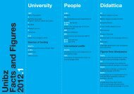 Unibz Facts and Figures 2012 .1 University