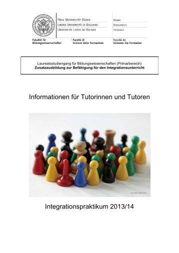 Informationen für Tutorinnen und Tutoren - Freie Universität Bozen