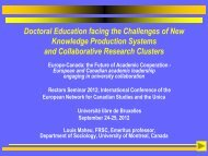 Doctoral Education facing the Challenges of New ... - UNICA