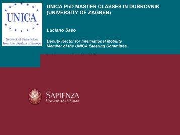 UNICA PhD MASTER CLASS