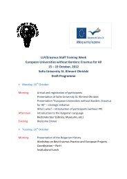 preliminary program - UNICA