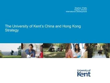 University of Kent, Stephen WALLI - UNICA