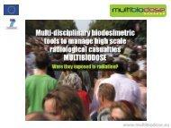 Andrzej Wojcik MULTIBIODOSE project.pdf - UNICA