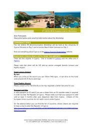 Dear Participant, Please find below some practical ... - UNICA
