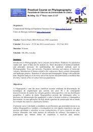 Phylogeography - Centro de Biologia Ambiental - Universidade de ...
