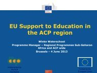 EU Support to Education in the ACP region - UNICA