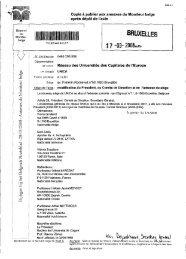 Copie à publier aux annexes du Moniteur belge après ... - UNICA