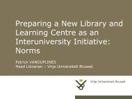 Preparing a New Library and Learning Centre as an ... - UNICA