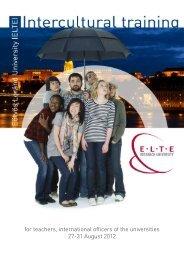 intercultural training ELTE.pdf - UNICA