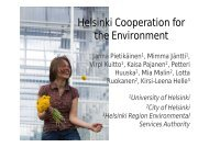 Helsinki Cooperation for the Environment - UNICA