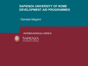 International Development Aid Programs and Actions - UNICA