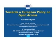 European Commission policy on open access, Celina - UNICA
