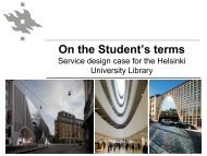 On the Student's terms - UNICA