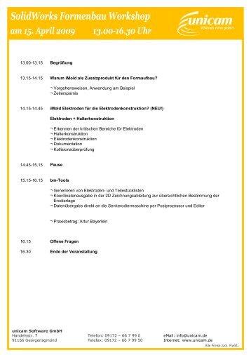 Agenda - unicam Software GmbH