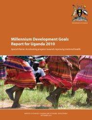 Millennium Development Goals Report for Uganda 2010