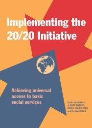 Implementing the 20/20 Initiative - Unicef