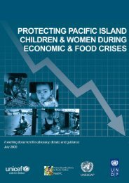 Protecting Pacific Island Children and Women during ... - Unicef