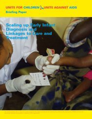 Scaling up Early Infant Diagnosis and Linkages to Care and ... - Unicef