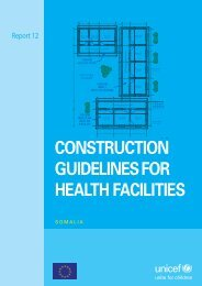 CONSTRUCTION GUIDELINES FOR HEALTH FACILITIES - Unicef