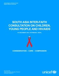 south asia inter-faith consultation on children, young people ... - Unicef